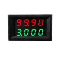 Цифровой амперметр вольтметр DC 0-100V 0.000-3.000A 0.3% 15 мА LED 0.28