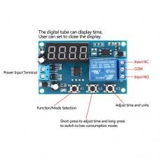 Таймер-реле времени DK-C-06 программируемое 12VDC с задержкой времени 0,1сек-999 мин и сохранением настройки