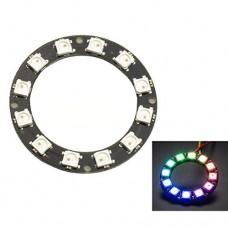 Светодиодный модуль круглый на WS2812B с 12 RGB светодиодами для Arduino с последовательным управлением