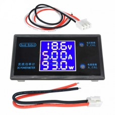 Амперметр-вольтметр-ваттметр цифровой DC 0-100V 0-10A 0-1000W
