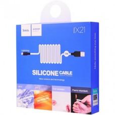 Кабель HOCO USB 2.0 A Lightning для IPhone 5/12 USB тип А (8pin) X21 Silicone Lightning 2A 1m