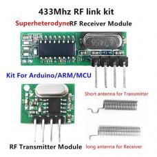 Модуль беспроводной связи супергетеродинный RF приемник RX470-4 и передатчик WL102-341 433МГц для Arduino