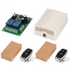Дистанционное управление (переключатель и передатчик) двухканальное KR2202-4 85V-250VAC 433MHz для ворот