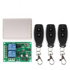 Дистанционное управление (переключатель и передатчик) двухканальное C80M-9982-2 12VDC 433MHz для ворот + 3 брелка