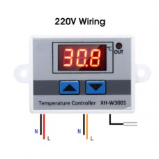Терморегулятор HW-W3001 110-220VAC 10A 1500W -50 ~ +110°C с выносным датчиком NTC 10 kOhm
