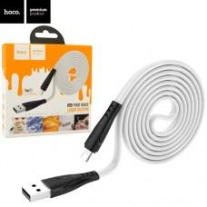 Кабель HOCO USB 2.0 A Lightning для IPhone 5/12 USB тип А (8pin) X42 Soft Silicone Lightning 2.4A 1m