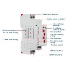Реле времени ассиметричное GRT8-S2 ACDC12V-240V для циклического включения