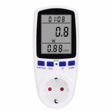 Ваттметр вольтметр амперметр цифровой CAT II с программой расчета электроэнергии