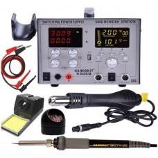 HandsKit 9305D паяльная станция цифровая (паяльник+фен+лаболаторный блок+USB) 700W, 100°C~450°C