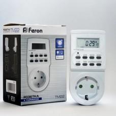 Таймер-розетка электронный Feron TM22 недельный 220VAC 3600Вт 16A точность 1 минута