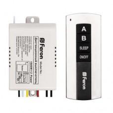 Дистанционный выключатель Feron TM75 220VAC 2-х канальний 1000W + включение с задержкой
