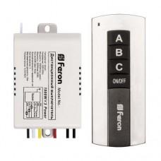 Дистанционный выключатель Feron TM76 220VAC 3-х канальний 1000W