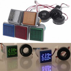 Амперметр-вольтметр цифровий AD16-22FVA 60-500VAC 0-100A зелене підсвітлення