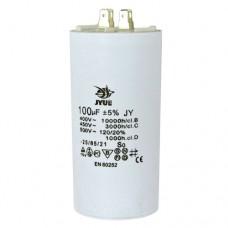 Пусковой конденсатор 100uF 450V +/-5% 50/60Hz -25...+85°C EN60252 клеммы