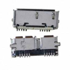 Micro USB-AB/F 3.0 розетка на плату 10pin 90° SMT, USB-30-03-FS-90