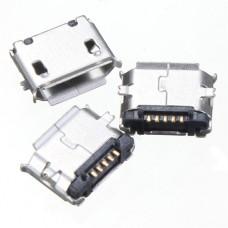 Micro USB-F розетка на плату тип AB 5pin 2 ножки smt