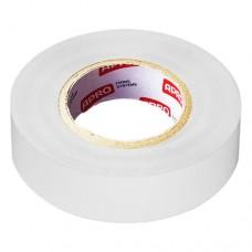Изоляционная лента ПВХ 15mm x 0.13mm, каучуковый клеющий шар 20м белая