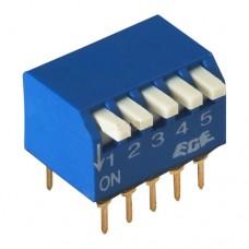 SWD3-5 DIP переключатель под углом 90°, шаг 2.54mm