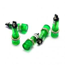 Лампа индикаторная неоновая XD10-3 в пластиковом корпусе 60cd, с выводами 220VAC, зеленая