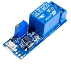 Таймер-реле времени XY-018 5-30VDC с micro USB регулировка 0-24 сек., защита от перегрузки