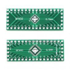 Плата переходник QFN32 QFN40 0.5mm на DIP