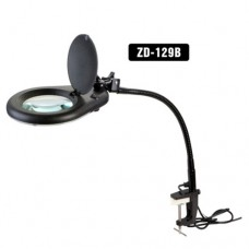 Лампа-лупа ZD-129B с LED подсветкой, 5-и кратное увеличение, D130mm