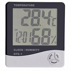 Термометр +часы цифровой HTC-1 -10...+50°C