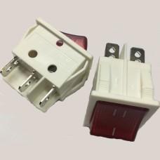 Переключатель IRS-202-6C с неоновой подсветкой ON-OFF DPDT, (6p), 16A 250VAC
