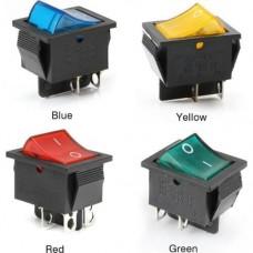 Переключатель IRS-201-1A неоновая подсветка ON-OFF (4p), 15A, 250VAC