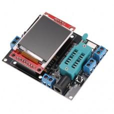 Универсальный тестер GM328A диоды, транзисторы, тиристоры, емкость конденсаторов 25pF ~ 100mF, индуктивность, генератор сигналов, частотомер  9V