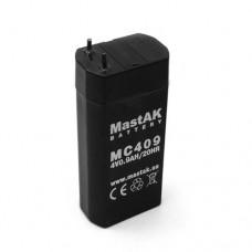MastAK MC409 (4V0.9Ah/20hr) аккумулятор