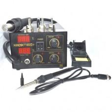 Handskit 852D+ паяльная станция с термофеном компрессорная 350W 100°C~480°C