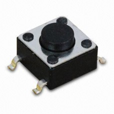 Кнопка тактовая SWT-34-5 4pin DC 12V 50mA 100000 циклов H5 SMT монтаж